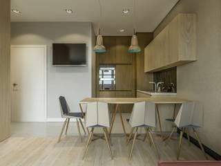 Warszawa Wola - mieszkanie 33 m kw. Nowoczesna kuchnia od Casa Marvell Nowoczesny