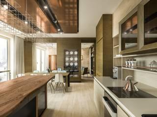 Warszawa Wola - apartament 120 m kw. Nowoczesna kuchnia od Casa Marvell Nowoczesny