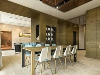 Warszawa Wola - apartament 120 m kw. Nowoczesna jadalnia od Casa Marvell Nowoczesny