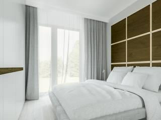Warszawa Żoliborz - mieszkanie 62 m kw. Nowoczesna sypialnia od Casa Marvell Nowoczesny