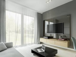 Warszawa Żoliborz - mieszkanie 62 m kw. Nowoczesny salon od Casa Marvell Nowoczesny