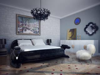 Camera da letto in stile  di MM-STUDIO