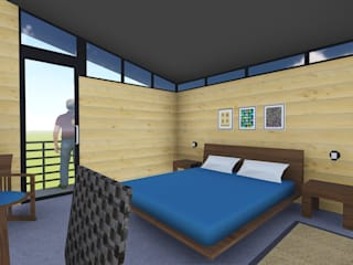 Casa Quevedo: Dormitorios de estilo  de ESTUDIO VIDA