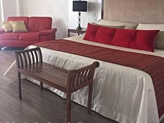 Habitación en Rojo : Habitaciones de estilo  por ea interiorismo