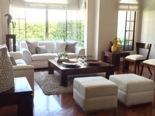 Sala en Casa en la Ciudad Salas de estilo ecléctico de ea interiorismo Ecléctico Madera Acabado en madera