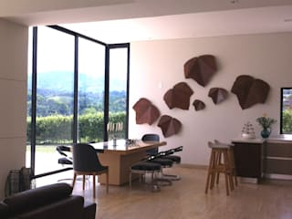 ea interiorismo Eclectic style dining room Wood Brown