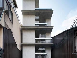Casa Verde 株式会社 藤本高志建築設計事務所 モダンな 家 コンクリート 灰色