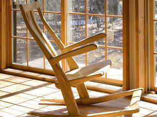 ロッキング チェアA: 木工房ばおばぶが手掛けた折衷的なです。,オリジナル