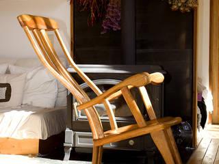 ロッキング チェアーB: 木工房ばおばぶが手掛けた折衷的なです。,オリジナル