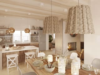 Scandinavian style kitchen by Бражинская Scandinavian