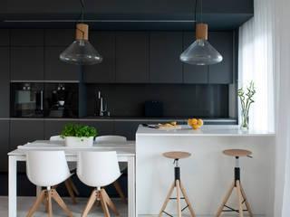 Cocinas de estilo  por MINIMOO Architektura Wnętrz