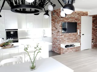 Salle à manger minimaliste par MINIMOO Architektura Wnętrz Minimaliste