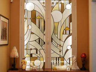 Vitrail pour un appartement dans le 7ème arrondissement par Catherine Nafziger - Atelier Kats Vitrail Éclectique