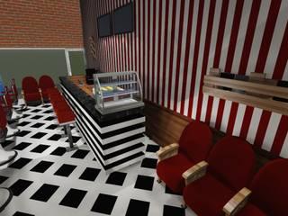 DL BARBER SHOP : Espacios comerciales de estilo  por ARQ. PAOLA DE LUCA