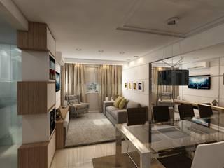 Apartamento bairro Santana: Salas de jantar  por Débora Pagani Arquitetura de Interiores,Moderno