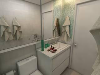 Apartamento bairro Santana: Banheiros  por Débora Pagani Arquitetura de Interiores,Moderno