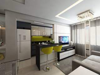 Apartamento bairro Ipanema: Cozinhas  por Débora Pagani Arquitetura de Interiores,Moderno