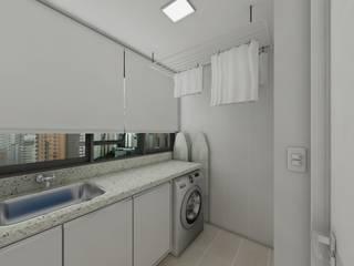 "Apartamento bairro Mont"" Serrat: Banheiros  por Débora Pagani Arquitetura de Interiores,Moderno"