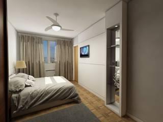 Apartamento bairro Moinhos de Vento: Quartos  por Débora Pagani Arquitetura de Interiores,Moderno