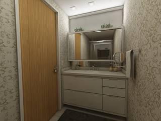 Apartamento bairro Moinhos de Vento: Banheiros  por Débora Pagani Arquitetura de Interiores,Moderno