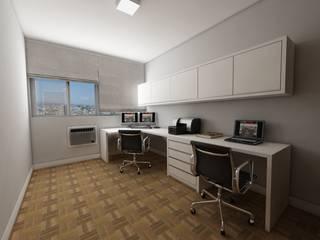 Apartamento bairro Moinhos de Vento: Escritórios  por Débora Pagani Arquitetura de Interiores,Moderno