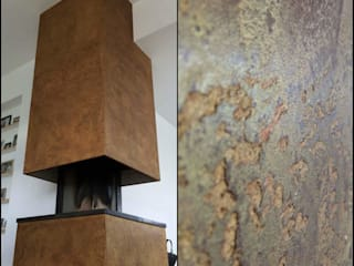 cortenstaal imitatie / rust:   door Wicked Walls