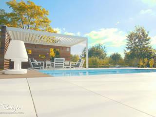 Poolhouse: moderne Tuin door Buro van Rooijen