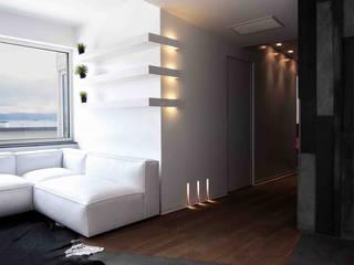Casa M 现代客厅設計點子、靈感 & 圖片 根據 DORIArchitetti 現代風