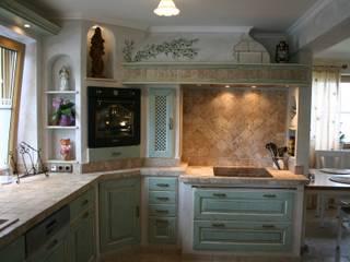 Mediterranean style kitchen by Villa Medici - Landhauskuechen aus Aschheim Mediterranean