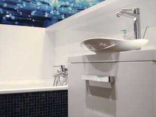 Projekt łazienki- apartament Warszawa: styl , w kategorii Łazienka zaprojektowany przez Karolina Radoń Design