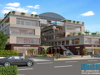 3d exterior Rendering: asian  by blueribbon 3d animation studio,Asian