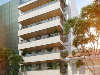 Case moderne di Tato Bittencourt Arquitetos Associados Moderno