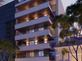 Casas de estilo  por Tato Bittencourt Arquitetos Associados