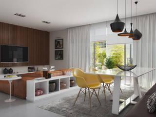 Tato Bittencourt Arquitetos Associados Столовая комната в стиле модерн