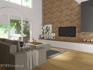 Industriale Wohnzimmer von EMMSTUDIO Magdalena Muszytowska Industrial