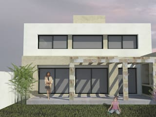 CASA VL: Casas de estilo  por MLL arquitecta,Minimalista