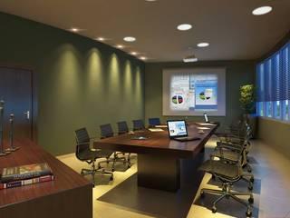 Modern Study Room and Home Office by DERALDO CAMPOS ARQUITETURA & URBANISMO Modern