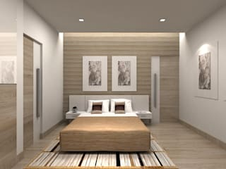 Camera da letto in stile in stile Moderno di De Panache  - Interior Architects
