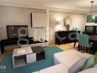 Andreia Louraço - Designer de Interiores (Email: andreialouraco@gmail.com) Salas de estilo ecléctico Negro
