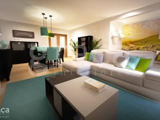 Andreia Louraço - Designer de Interiores (Email: andreialouraco@gmail.com) Salas de estilo ecléctico Azul