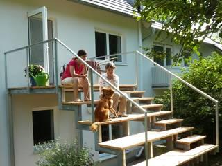 Balkon/Gartentreppe nachher:   von SIGRUN GERST ARCHITEKTUR