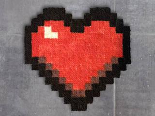 Tapis Pixel Art – LOVE! – 16x16px par Le Marcassin Ailé Éclectique