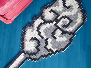 Tapis Pixel Art – Nuage Volant. par Le Marcassin Ailé Éclectique