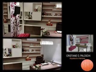 Dormitorios de estilo  por Cristiane O. Paloschi Arquitetura, Moderno