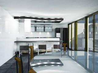 Cozinhas modernas por ARQFACTORY FIRMA DE ARQUITECTURA Moderno