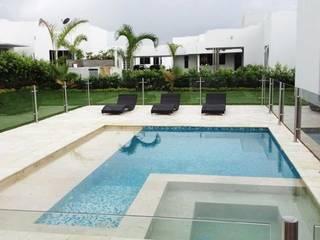 Casa campestre Neiva Huila: Piscinas de estilo  por AV arquitectos, Moderno