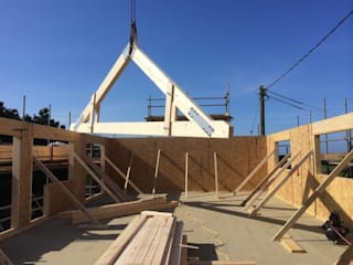 Lower Treave, Timber Frame Roof Extension Building With Frames Modern houses Wood