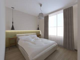 Sypialnia w mieszkaniu na wynajem Nowoczesna sypialnia od ZAWICKA-ID Projektowanie wnętrz Nowoczesny
