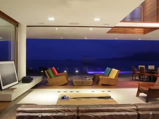 Residencia TD Varandas, alpendres e terraços modernos por F:POLES ARQUITETOS ASSOCIADOS Moderno