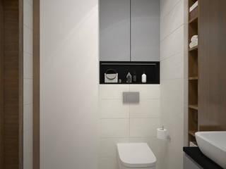 Łazienka w mieszkaniu na wynajem od ZAWICKA-ID Projektowanie wnętrz